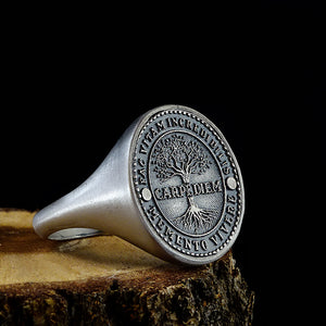 925 Sterling Silver Carpe Diem Inspirational Quote Mens Ring Jewelry
