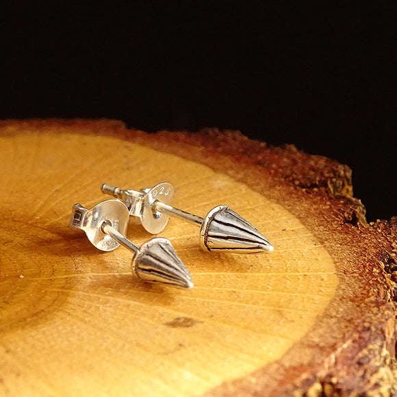 Mens Celtic Arrow Stud Earrings in Solid 925k Sterling Silver