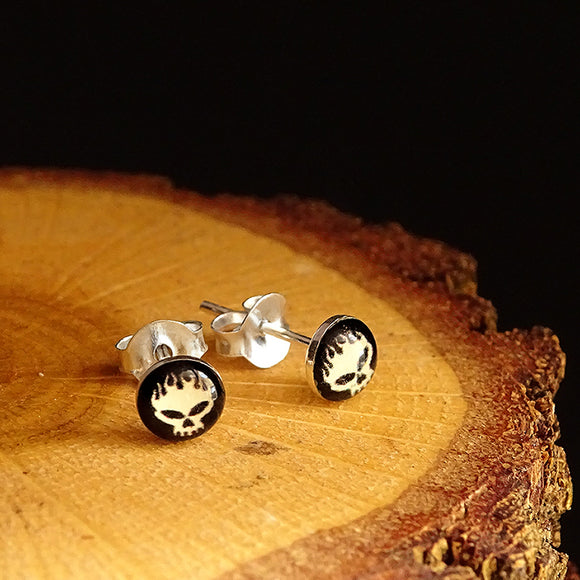 Solid 925 Sterling Silver Men's Stud Earrings