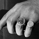 Blank Round Signet 925 Silver Pinky Ring For Men