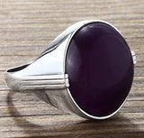 Men's Amethyst Ring in 925 Sterling Silver - J  F  M
