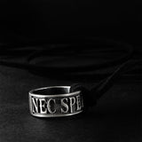 Silver Male Necklace Nec Spe Nec Metu Men's Ring Pendant Necklace Neither Hope Nor Fear