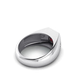 Ruby Ring for Man with 2 DIAMONDS 0.06ctw in 925 Silver Gemstone Jewelry