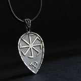 Thunder shield of Perun (Gromovnik, Yarovrat) Slavic Pendant Amulet Sterling Silver Necklace