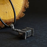 925 Silver Viking Warrior War Hammer Necklace Men's Weapon Pendant
