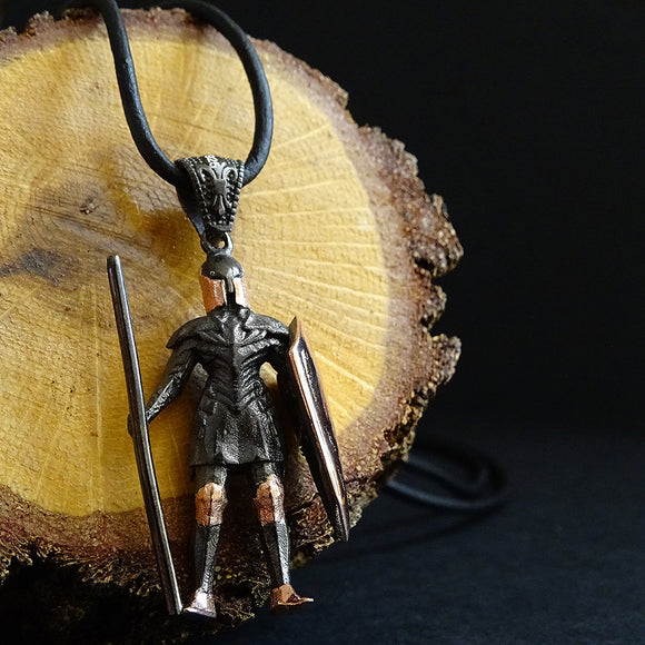 Gladiator Necklace for Men Sterling Silver Men's Statement Necklace