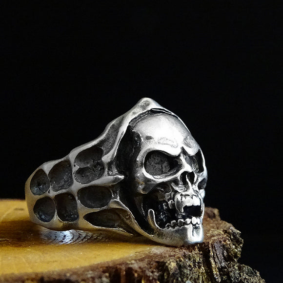 925 Sterling Silver Skull Rings Mens Boys Biker Gothic Ring Punk Jewellery
