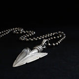 925 Sterling Silver Indian Arrowhead Pendant Necklace