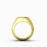 10k Yellow Gold Male Signet Ring Blank Round Pinky Ring for Man Jewelry Accessory Gift for Father