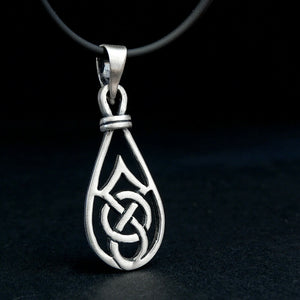 Celtic Knot Necklace REAL Sterling Silver Infinity Occult Rune Irish Jewelry