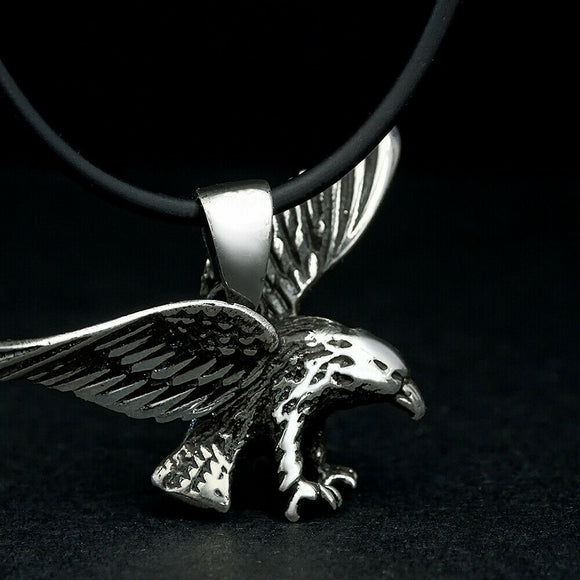 Men's Necklace Eagle Charm 925 Sterling Silver Jewelry Oxidized Falcon Necklace