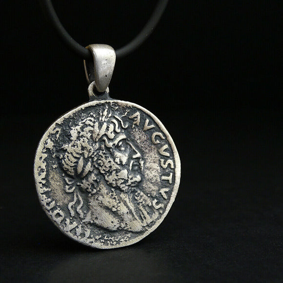 made of solid sterling silver hand-stamped .925 pendant diameter: 1.1