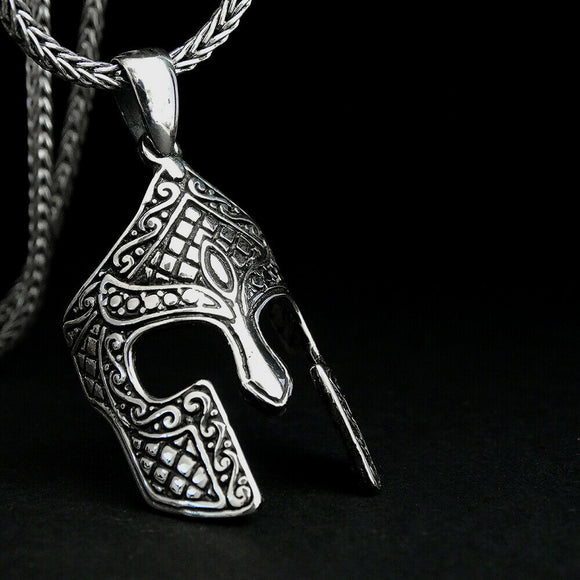 Men's Gladiator Necklace 925 Sterling Silver Pendant Roman Warrior Jewelry
