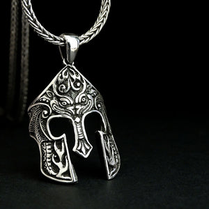 Spartan Men's Necklace Gladiator Pendant SOLID Sterling Silver Man Jewelry Gift