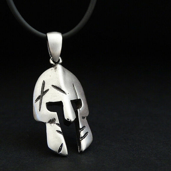 Silver Spartan Men Necklace SOLID Sterling Silver Warrior Pendant Jewelry Gift