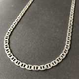 5mm Mens Mariner Link Chain Necklace 925 Silver Sterling 20 Inch 17GR