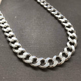 925 Sterling Silver Mens Cuban Tight Curb Link Chain Necklace 14mm 152GR 24 Inch