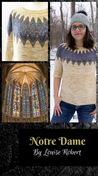 yoke sweater design Notre Dame