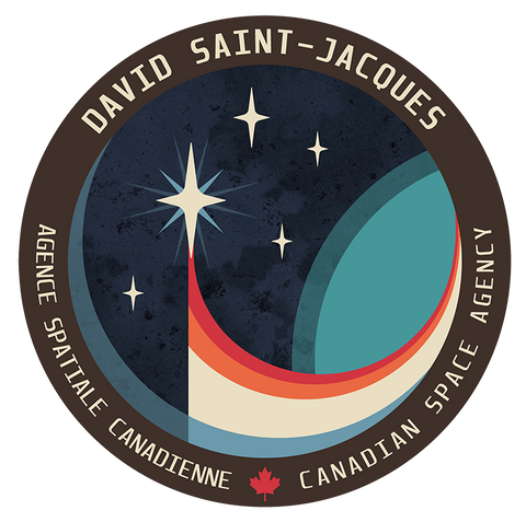 Écusson de la mission Expedition 58 de l'astronaute canadien David Saint-Jacques (Source : Agence spatiale canadienne.)