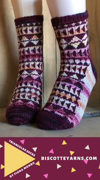 triangle sock pattern to download