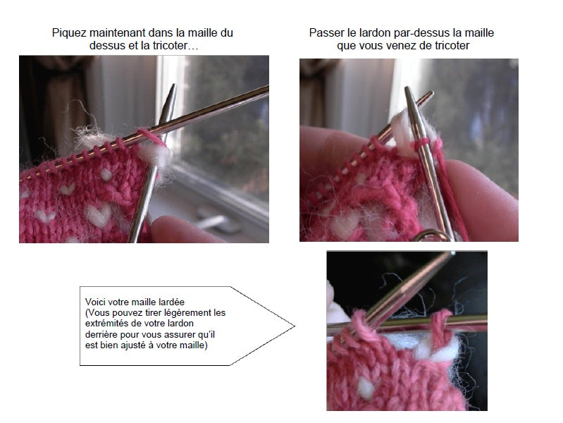comment larder une maille (how to thrum a stitch) 3/3