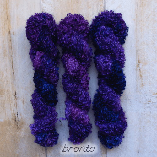 BRONTË by Louise Robert Design | BOUCLE MOHAIR hand-dyed Variegated yarn