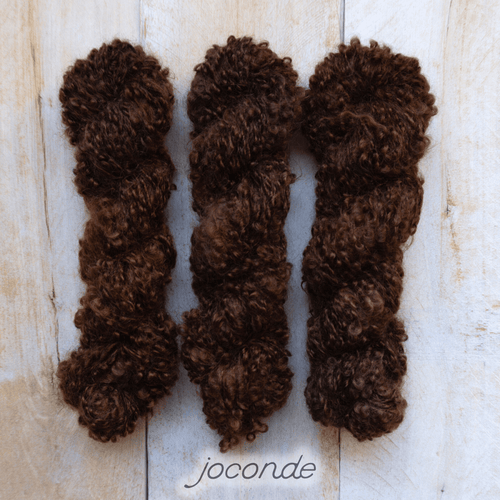 JOCONDE by Louise Robert Design | BOUCLE MOHAIR hand-dyed semi-solid yarn