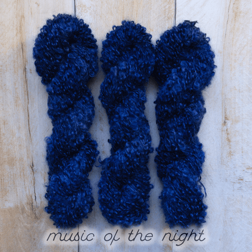 MUSIC OF THE NIGHT by Louise Robert Design | BOUCLE MOHAIR hand-dyed semi-solid yarn