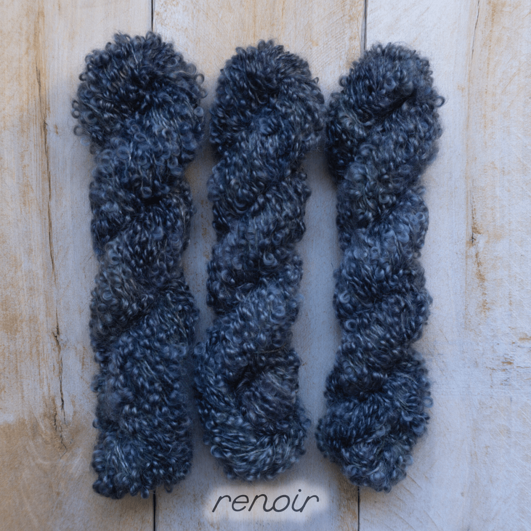 RENOIR by Louise Robert Design | BOUCLE MOHAIR hand-dyed semi-solid yarn