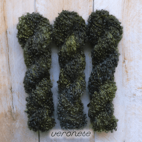 VERSONESE by Louise Robert Design | BOUCLE MOHAIR hand-dyed semi-solid yarn