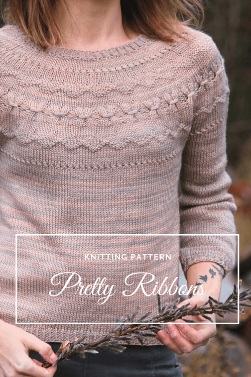 Pretty Ribbons Pullover | Knitting Pattern