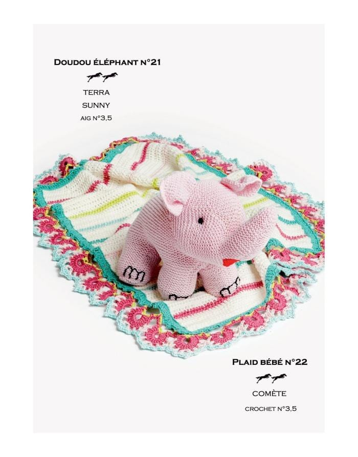 Patron Cheval Blanc Catalogue 27-22 - Plaid de bébé
