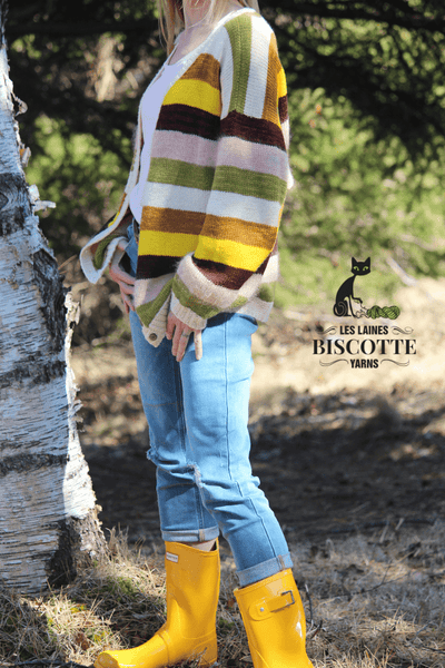 Cardigan ''Color Your World'' | Patron de Tricot Gratuit