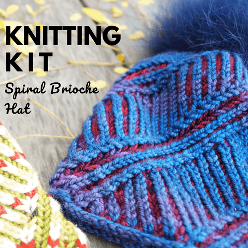 Spiral Brioche Hat | Knitting Kit