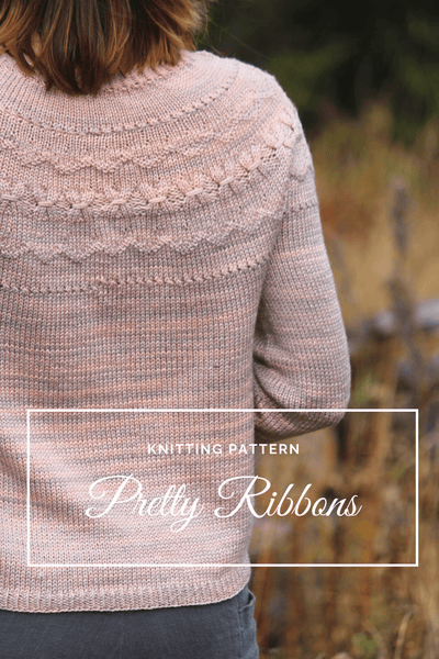 Chandail Pretty Ribbons | Patron de Tricot