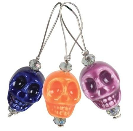 Zooni Stitch Markers - Skull Candy