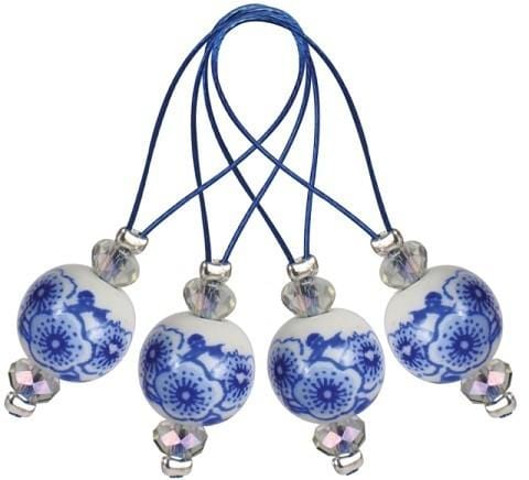 Zooni Stitch Markers - Blooming Blue