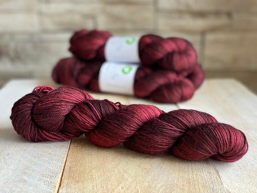 Bis-Sock yarn semi-solid Acajou | 100g or 50g mini-skein