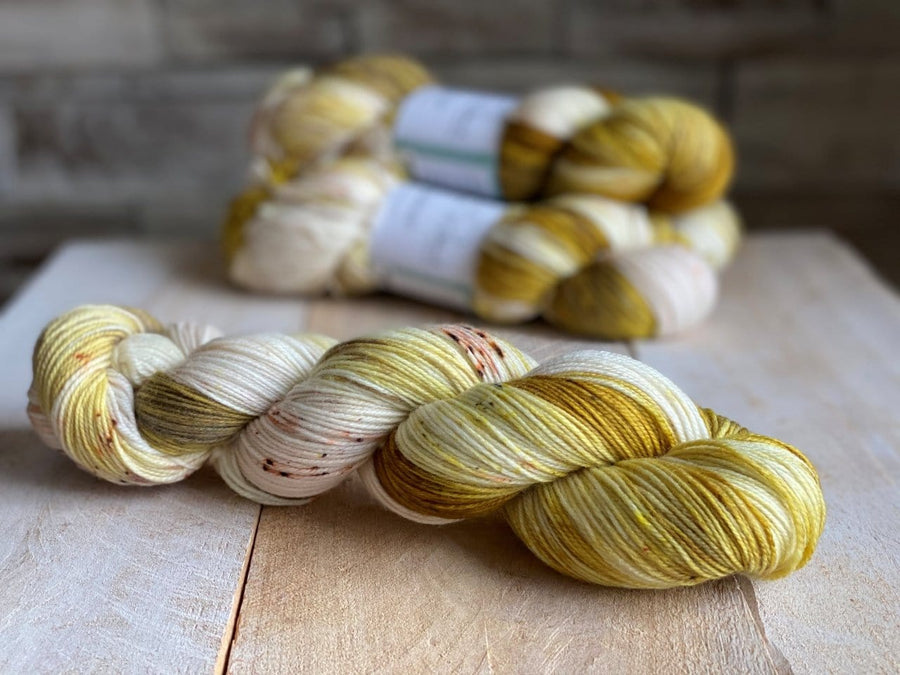 Boucle Mohair Hand-dyed Semi-solid Yarn Loch By Louise Robert Design