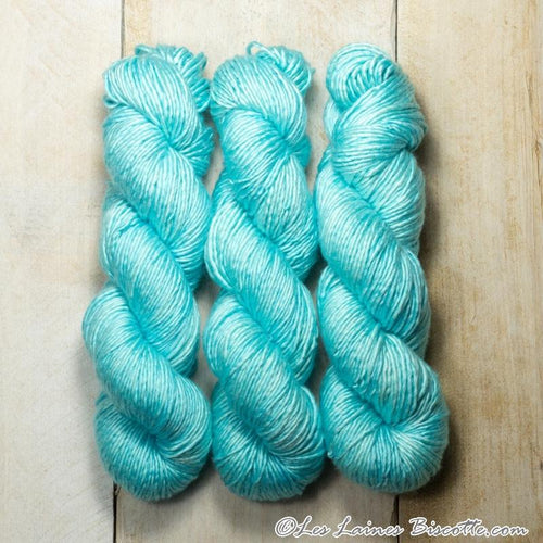 Albus - Merino & Silk Wool ♥ 1 ply knitting wool AQUA