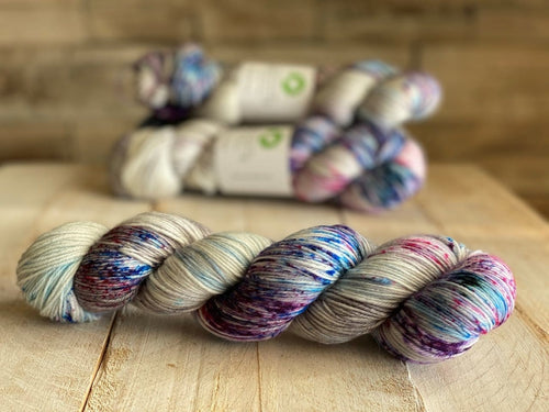 Bis-Sock yarn APOLLO speckled hand-dyed yarn | 100g(2x50g) or 50g mini skein size