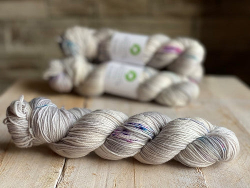 Bis-Sock yarn CACHALOT speckled hand-dyed yarn | 100g(2x50g) or 50g mini skein size