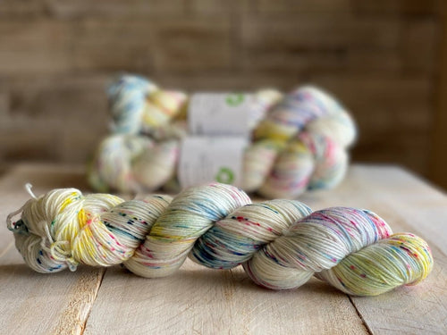 Bis-Sock yarn Confiserie speckled hand-dyed yarn | 100g(2x50g) or 50g mini skein size