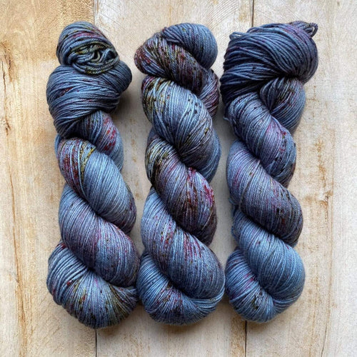 Bis-Sock FORGET ME NOT | hand-dyed Speckled sock yarn | 100g (2x50g) / 50g (mini skein)