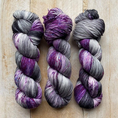 Bis-Sock URSULA | hand-dyed Speckled sock yarn | 100g (2x50g) / 50g (mini skein)