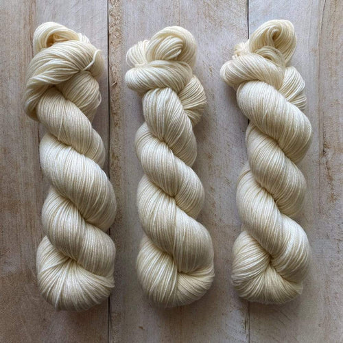 Bis-Sock yarn semi-solid Vanille | 100g or 50g mini-skein