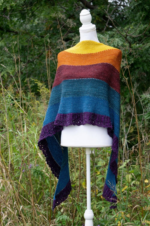 "Biscotte ""Rainbow"" shawl pattern"