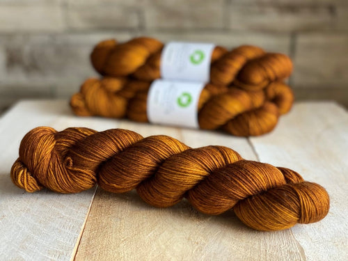 Bis-Sock yarn semi-solid Caramel | 100g(2x50g) or 50g mini-skein