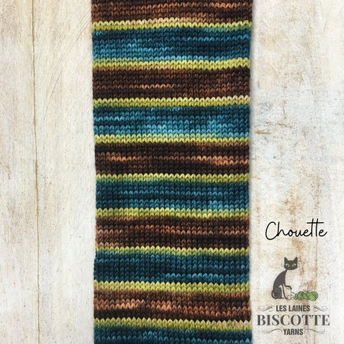 SELF-STRIPING yarn - Bis-Sock Chouette