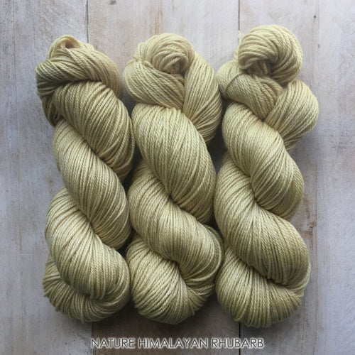 HIMALAYAN RHUBARB by Louise Robert Design | DK PURE hand-dyed yarn, natural dyes